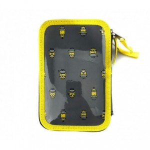 455623 Trousse 3 compartiments  inclue  43pcs les MINIONS Coloré