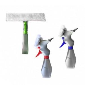 435618 Spray 3 en 1 de pulvérisation, raclette et chiffon Sèche et nettoie