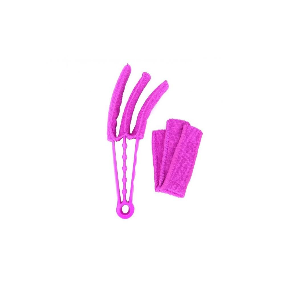 169116 Mini brosse en microfibre lavable avec 3 rabats pour stores vénitiens
