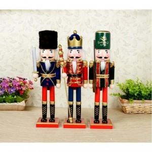 831041 Soldat décoratif 38 cm en bois peint à la main Rois differents modèles