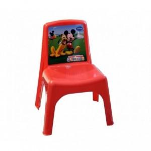 084113 Chaise enfant Bildo en plastique de couleur Mickey Mousse 43x26x24 cm