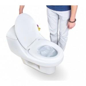 055991 Lot de 10 couvre-sièges WC en papier jetables dans les toilettes DOLLY