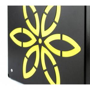 Boîte aux lettres ARTIGIAN FERRO Art 730e de fleurs avec serrure21X8X30 cm