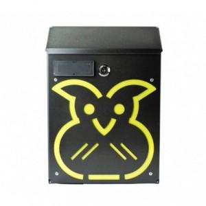 Boîte aux lettres ARTIGIAN FERRO Art 730d Hibou avec serrure 21X8X30 cm
