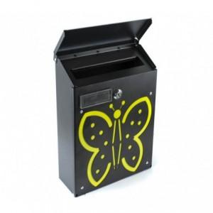Boîte aux lettres ARTIGIAN FERRO Art 730c Papillon avec serrure 21X8X30 cm