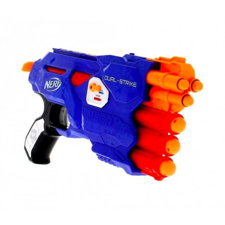 945459 NERF GUN Dual Strike 3x3x avec sélecteur de cartouches grand/petit Hasbro
