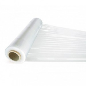 Film plastique étirable manuel transparent 23 mm film 2.4 kg 500 mm