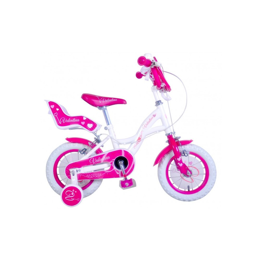"RS1409 Vélo fille HELLO CANDY taille 16"" cadre acier age 4 - 7 ans"