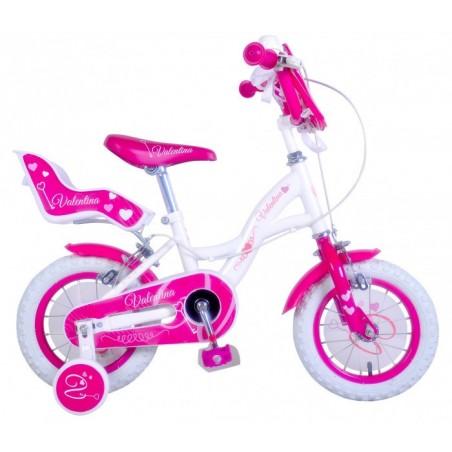"""vélo pour fille 16"""" VALENTINA avec cadre en acier âge de 4 à 8 ans"""
