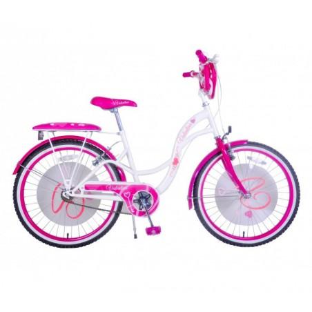 """vélo pour fille 20"""" VALENTINA avec cadre en acier âge de 6 à 10 ans"""