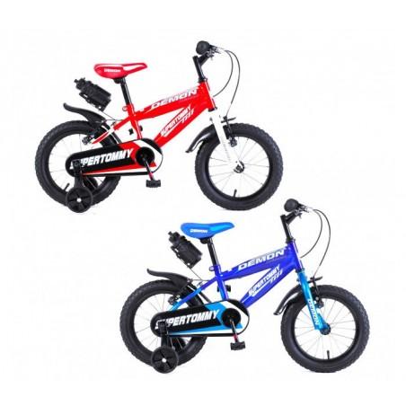 """Vélo enfant DEMON baby taille 16"""" 4-7 ans avec gourde"""