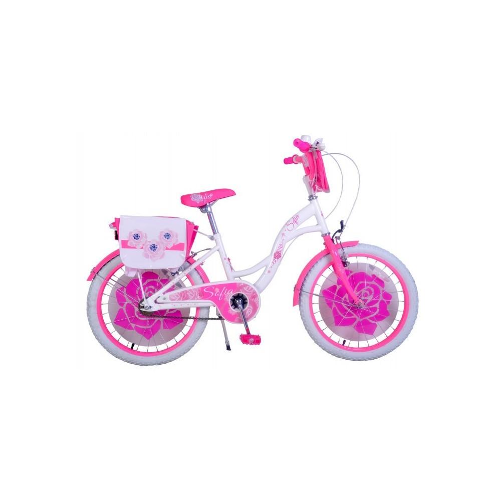 """vélo pour fille 20"""" SOFIA avec cadre en acier âge de 6 à 10 ans"""
