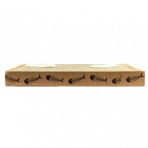 026432 Grattoir NOBLEZA carton parfumé pour chats 38.2x23x4 cm FISHING Box