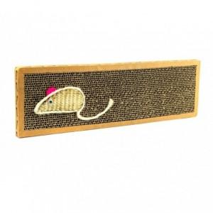 Grattoir NOBLEZA carton parfumé pour chats 38x12.5x2 cm MOUSE BOX
