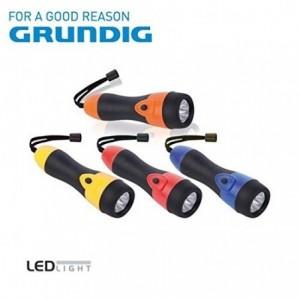 Lampe de poche 3 LED avec poignée 16 cm de long en caoutchouc GRUNDIG