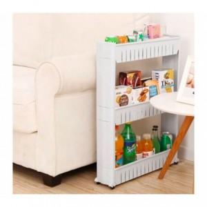 Organisateur de produits  avec roues 3 compartiments pour cuisine ou SDB