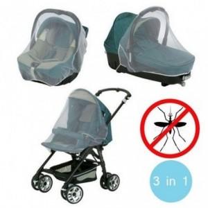 3en1 Moustiquaire pour poussette - landau bébé - mesure universelle