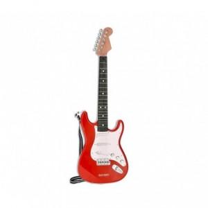 BONTEMPI 241310 Guitare électrique RockGuitar 6 cordes en métal Casque micro MP3