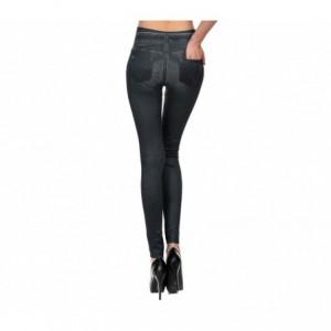 Legging Modèle GIADA effet denim Slim Fit doublure polaire 2 couleurs
