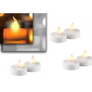 Lot 10 Bougies décoratives LED / effet flamme / lumière chaude / lumière jaune