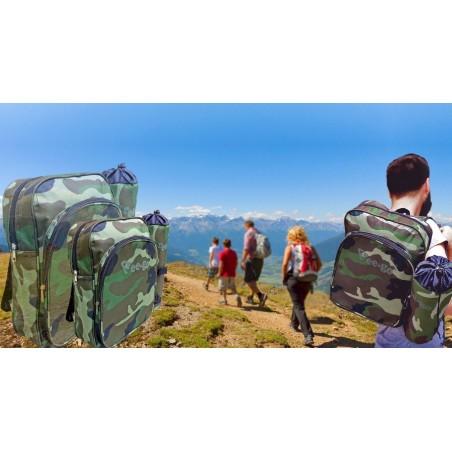 Kit sac á dos randonnée couleurs militaires +bouteille thermique refroidissement