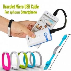 Bracelet en silicone unisexe - câble chargeur pour mobile i-phone 5/5s/6/6plus