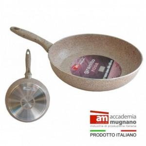 Sartén 22 cm antiadherente de efecto piedra y revestimiento Diamond Tech - Accademia Mugnano GRANITO ROSA