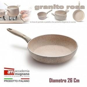 Sartén 24 cm antiadherente de efecto piedra y revestimiento Diamond Tech - Accademia Mugnano GRANITO ROSA
