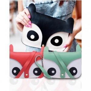 Sac á main imitation cuir - forme hibou- 24x17x6 cm OWL BAG effet 3D MWS AHEAD