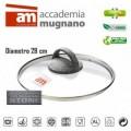 Couvercle en verre casserole / poéle - diamétre 28 cm - Accademia Mugnano