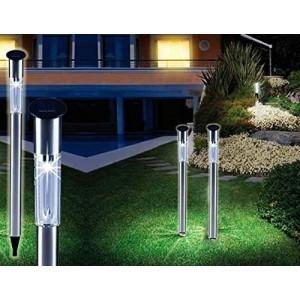 Lampes solaires de jardin LED et 70 cm de long - Optimal pour chemin - Lot de 2