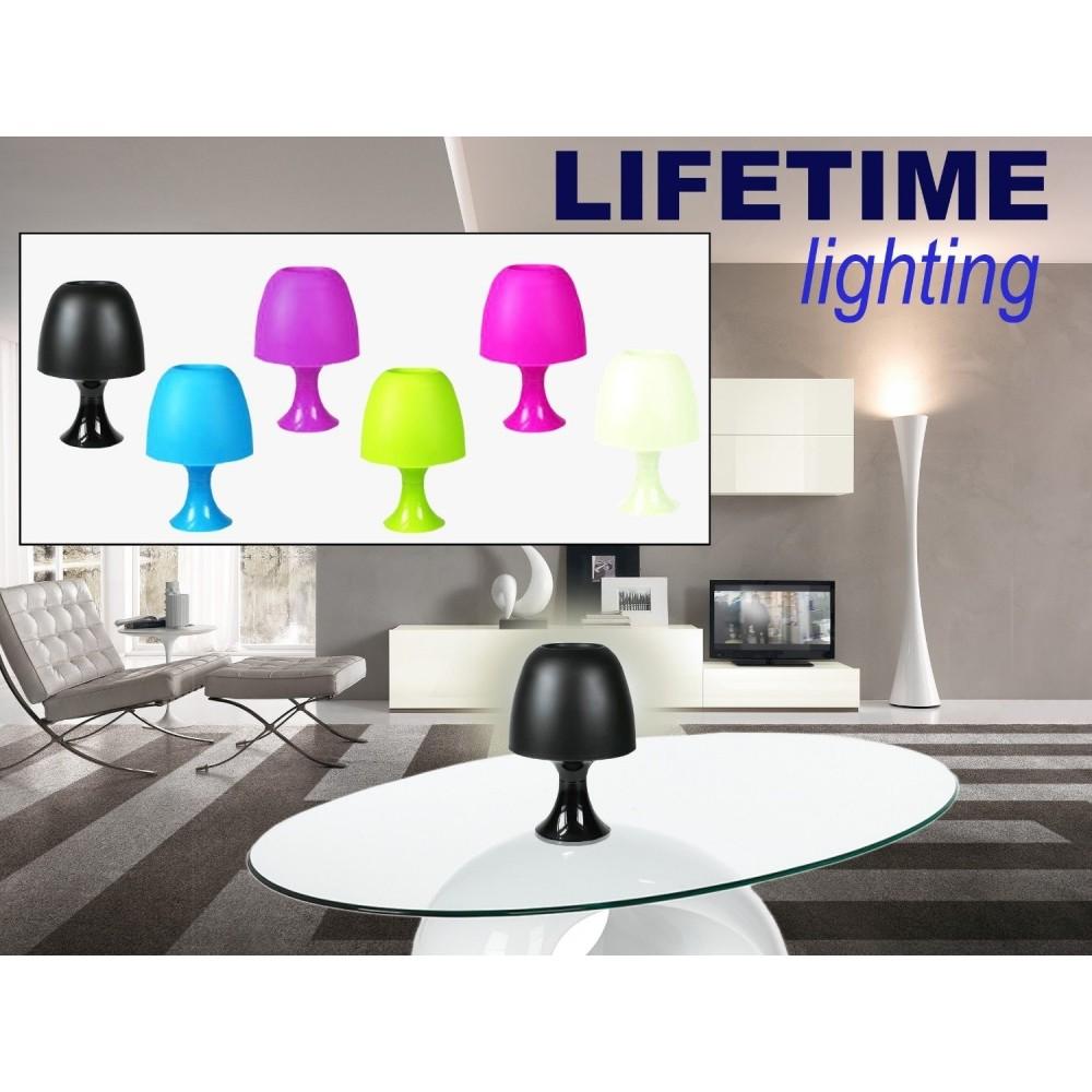 lampe de table avec base en plastique lumi re d corative et d tente. Black Bedroom Furniture Sets. Home Design Ideas