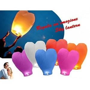 Lanterne de ciel - lanterne chinoise forme coeur diametre 33 cm
