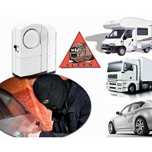 Mini-alarma para coche caravana camión sin hilos 100dB - Función antirrobo y antiladrones