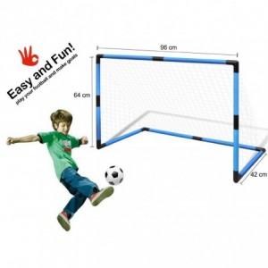 Portería infantil de futbol con marco de plástico y pelota incluída PEN@LTY ZONE 96x42x64 cm