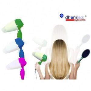 Sèche cheveux de voyage pliant avec 2 vitesses - puissance 850w -DHOMTECK SYSTEM