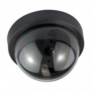Cámara simulada falsa de video vigilancia antirrobo , en forma de cúpula Negro LED Parpadeante