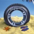 Bouée en forme de roue / pneu diam 91cm - BESTWAY