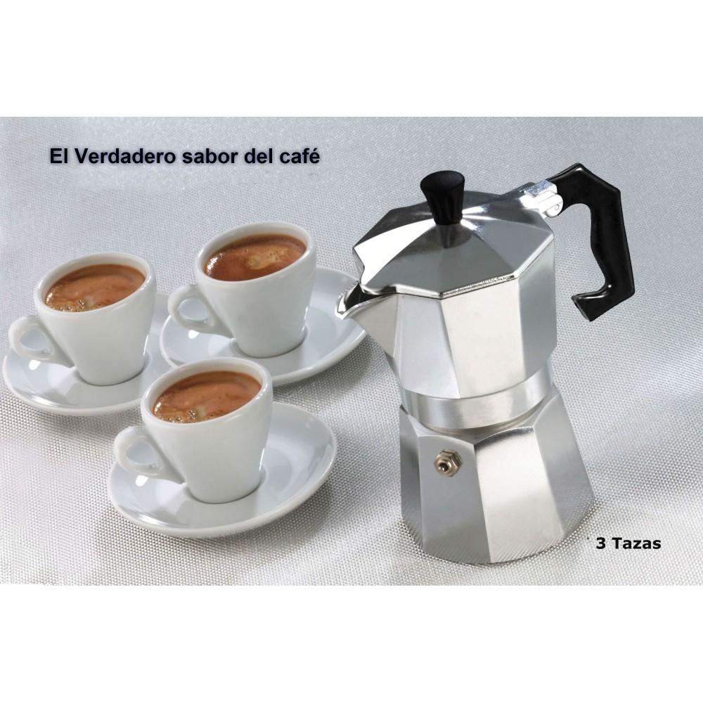 cafeti re italienne m tal 3 tasses de caf espresso homemade. Black Bedroom Furniture Sets. Home Design Ideas