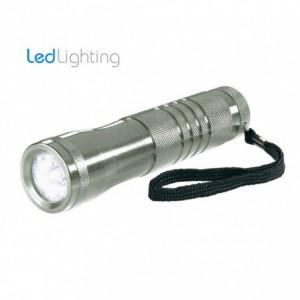 Linterna 9 LED de luz blanca fría hecho en aluminio y longitud 13CM / Ergonómico antirrobo y waterproof