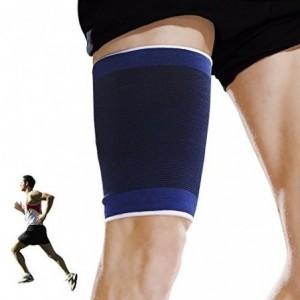 X2 Banda para el muslo para el dolor / lesión AZUL