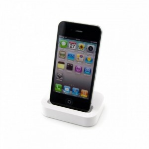 Cargador de base y sincronizador de datos compatible con Iphone 3/3G y 4/4S docking station 30 pin