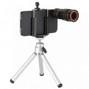 Trépied pour iPhone 4 télescope Zoom x8 optique
