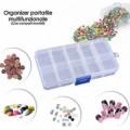 Mini boîte organisateur plastique avec 10 compartiments 13 x 6,5 x2,5cm