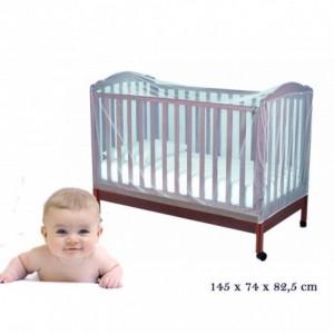 Moustiquaire - rideau universelle pour lit de bébé / parc bébé 145x74x82,5cm