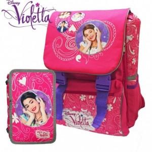 Kit école - sac à dos extensible coordonné avec trousse -3 compartiments WD16169
