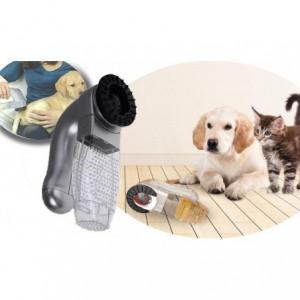 Aspirateur 2 en 1 élimine l'excès de poils tout en massant votre chien / chat - SHED - indolore - A pile