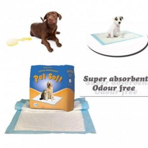 Pack 10 alaises - traverses pour chiens PET SOFT - capture d'odeurs des besoins des animaux super-absorbants 90 x 60 cm