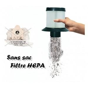 Aspirateur 1000 W LOLITA balai électrique sans sac HEPA tapis-de-chaussée de pinceau Capriccio 583101