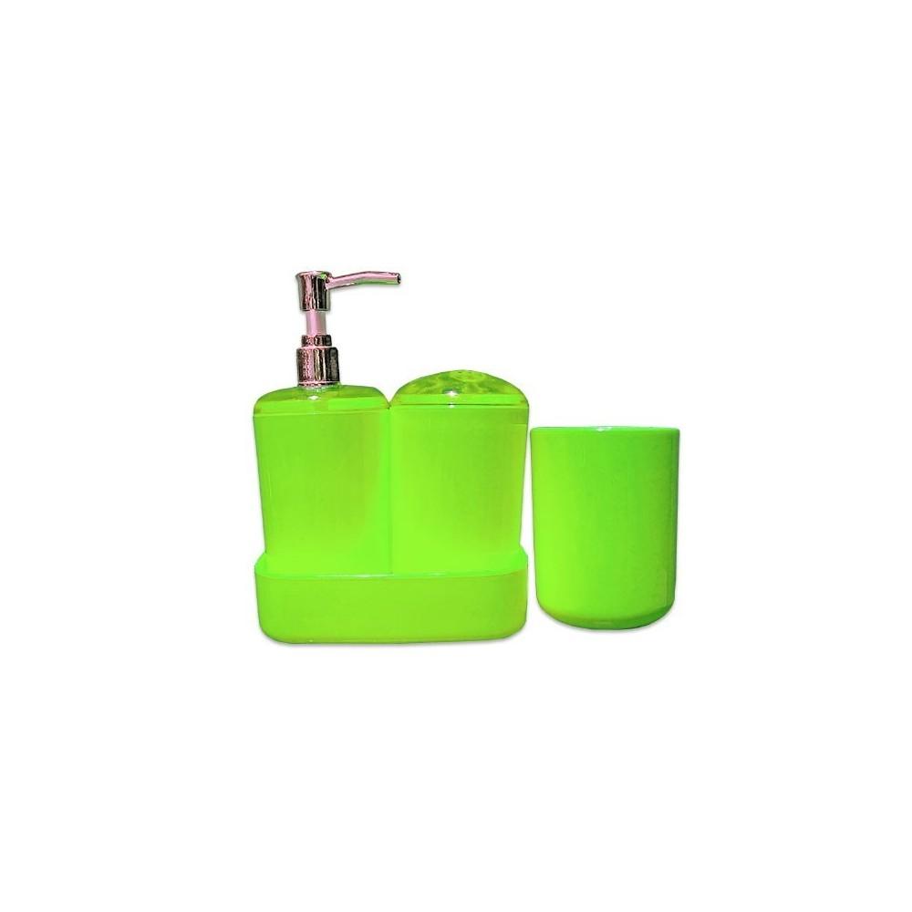 set 4 accessoires salle de bain distributeur de savon. Black Bedroom Furniture Sets. Home Design Ideas